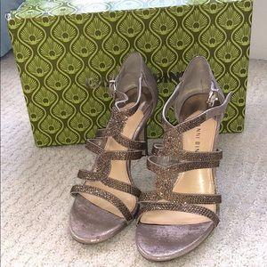 GIANNI BINI gold fusion heels